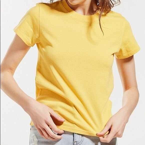 Bright Yellow Urban Outfitters Little Brother Tee